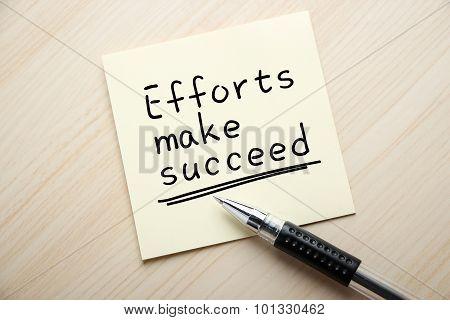 Efforts Make Succeed