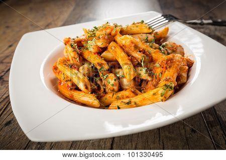 Fusion Cuisine - Italian Pasta And Greek Beans