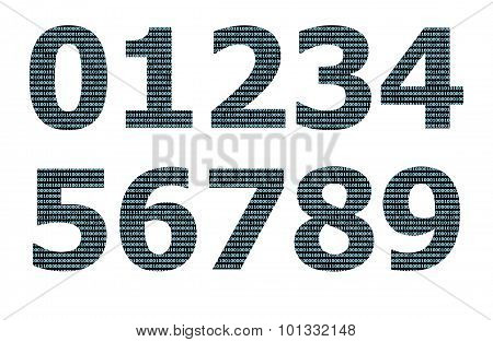 Binary numeral pattern on number