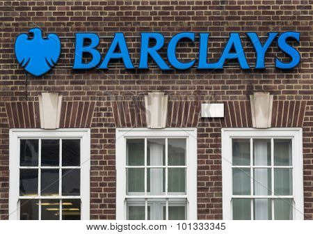 Barclays Bank High Street Banking Sign