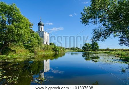 Church Of Intercession On Nerl Near Village Bogolubovo, Vladimir Region, Russia
