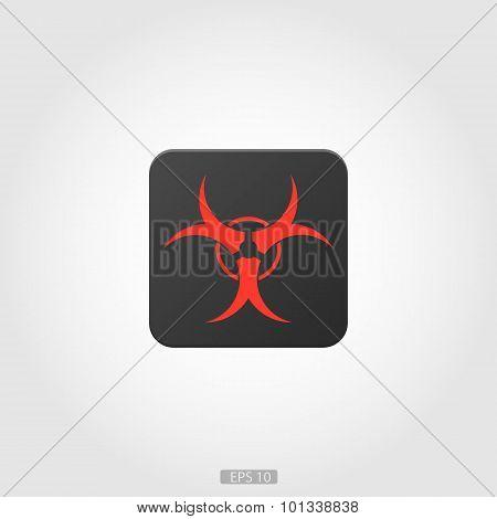 Biohazard logo icon