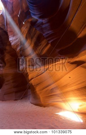 abstraction created by sandstone walls of Antelope Canyon, USA