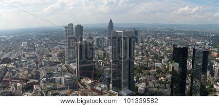 Skyline Of Frankfurt In Germany