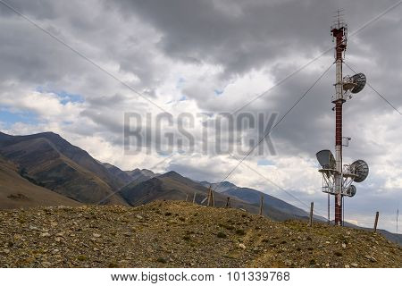 Telecommunications Tower Mountains Top