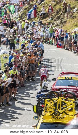 The Cyclist Joaquim Rodriguez On Col Du Glandon - Tour De France 2015