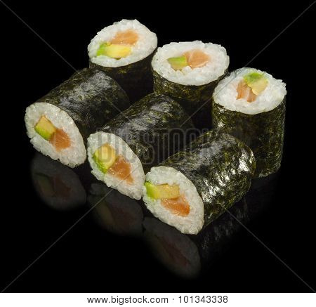 Hosomaki Sushi With Salmon And Avocado