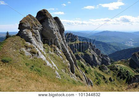 Mountain Landscape In The Carpathians