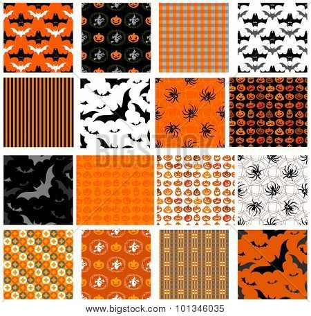Seamless Halloween patterns for any holiday design.