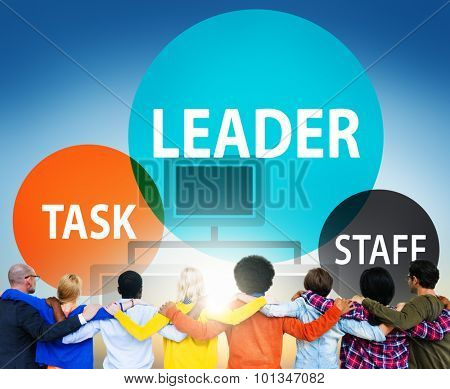 Leader Leadership Manager Task Staff Concept