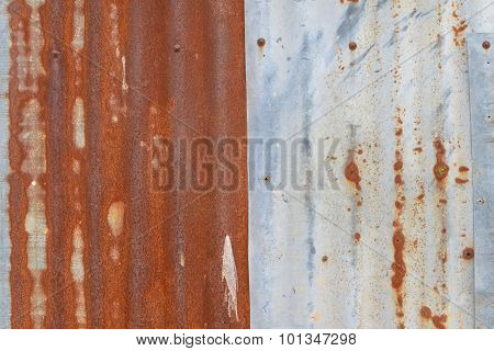 Old Rusty Corrugated Iron Wall