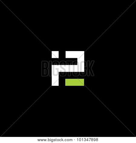 Sign Of The Letter P And E. Vector Illustration.