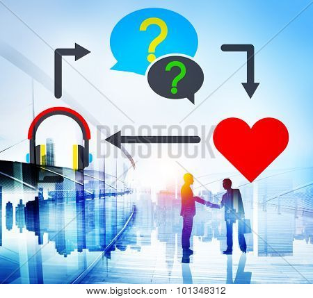 Question Love Couple Relationship Consulting Concept