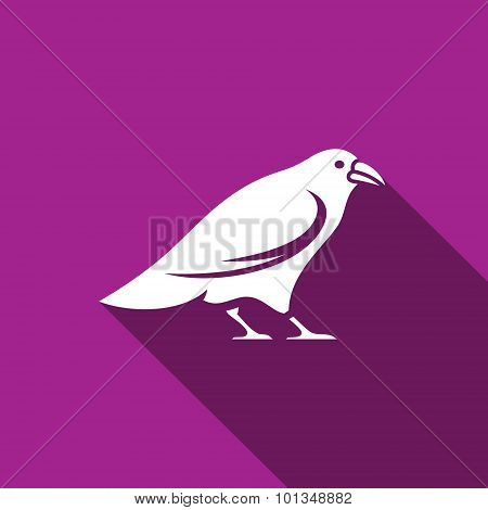 Raven Icon. Vector Illustration