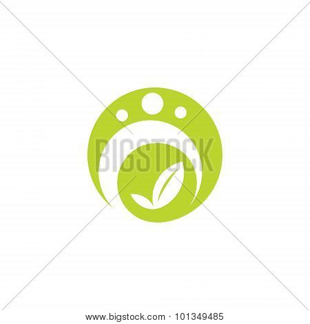 Green Plant Sign. Vector Illustration.