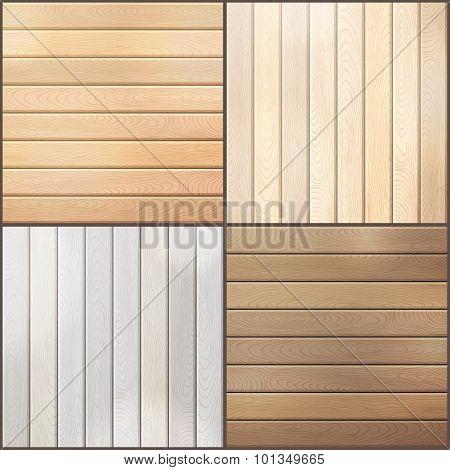 Set Of Wood Plank Backgrounds.