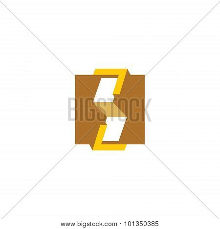 Woodworking abstract sign. Vector Illustration. Design template Isolated on a white background