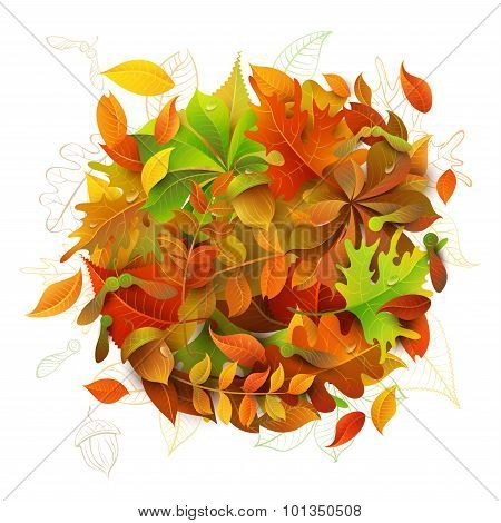 Bright Autumn Background.