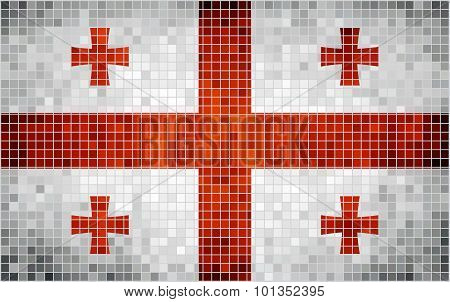 Abstract Mosaic Flag Of Georgia