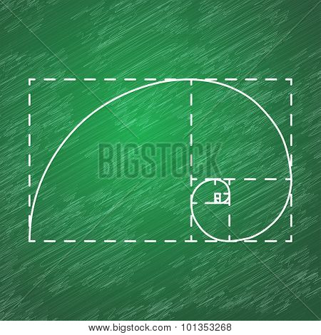 Golden Ratio On School Blackboard