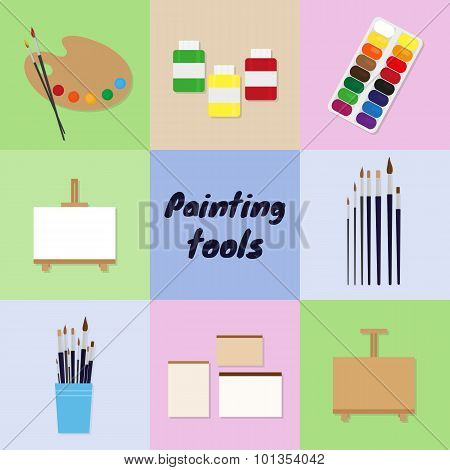 Painting Tools Set.