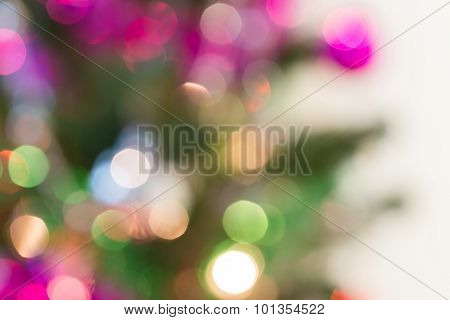 Abstract Light Celebration Background With De Focused Lights