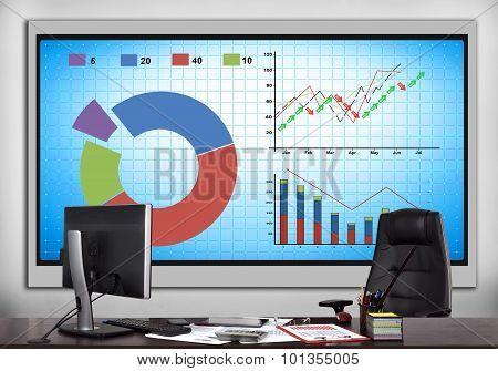 Plasma Panel With Stock Chart