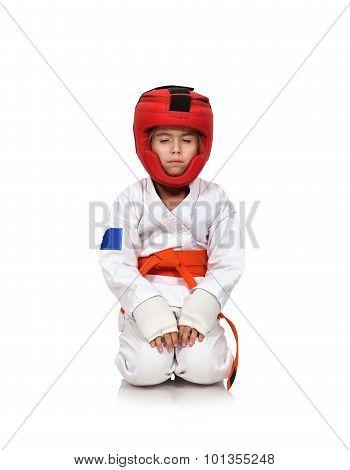 Karate Girl Meditating