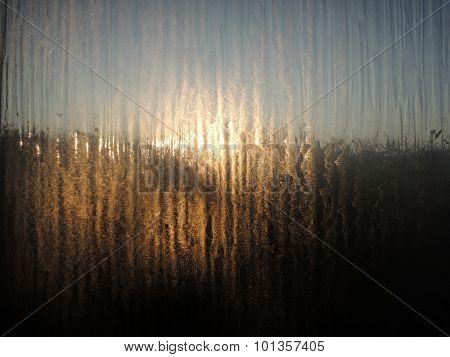 Sunlight Through Foggy Window