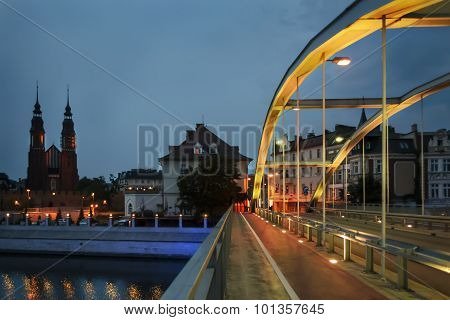 Night View On The Opole City