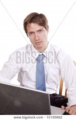 Serious Man Laptop
