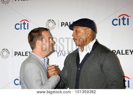 LOS ANGELES - SEP 11:  Chris O'Donnell, LL Cool J at the PaleyFest 2015 Fall TV Preview - NCIS: Los Angeles at the Paley Center For Media on September 11, 2015 in Beverly Hills, CA