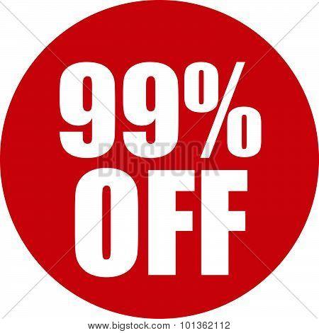 99 Percent Off Icon