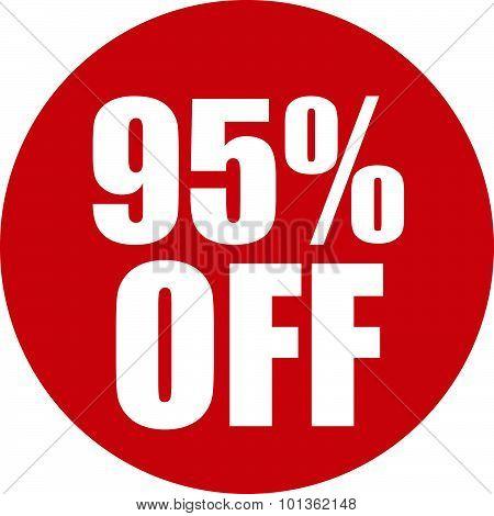 95 Percent Off Icon