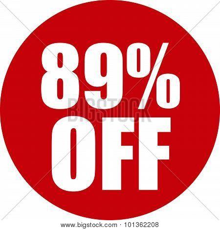 89 Percent Off Icon