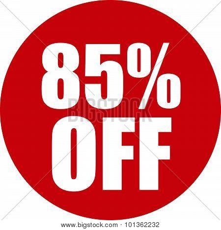 85 Percent Off Icon