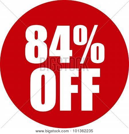 84 Percent Off Icon