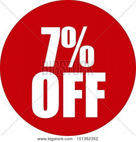 7 Percent Off Icon