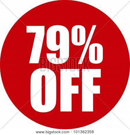 79 Percent Off Icon