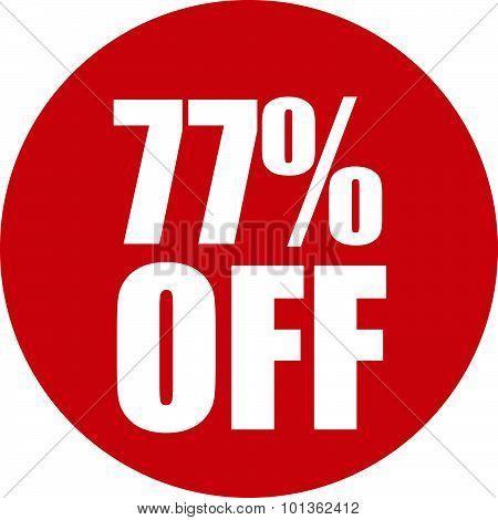 77 Percent Off Icon