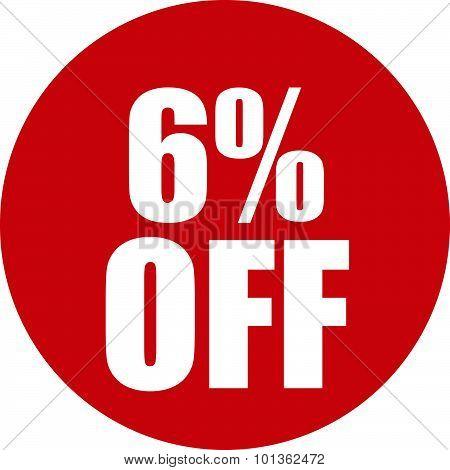6 Percent Off Icon