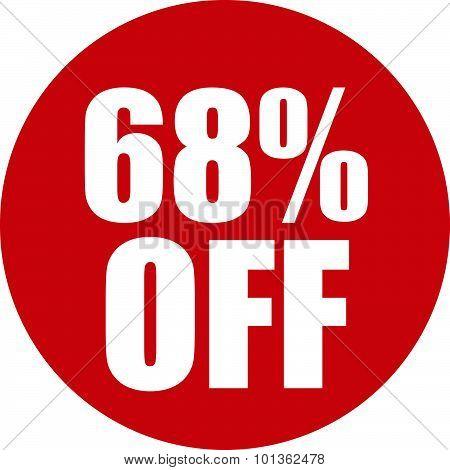 68 Percent Off Icon