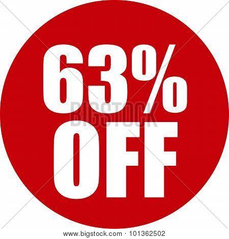 63 Percent Off Icon
