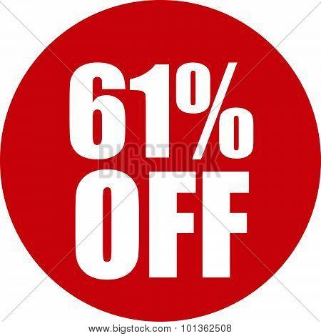 61 Percent Off Icon