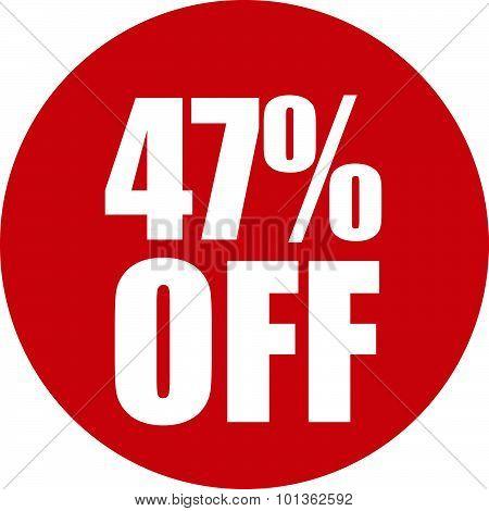 47 Percent Off Icon