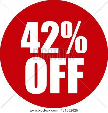 42 Percent Off Icon
