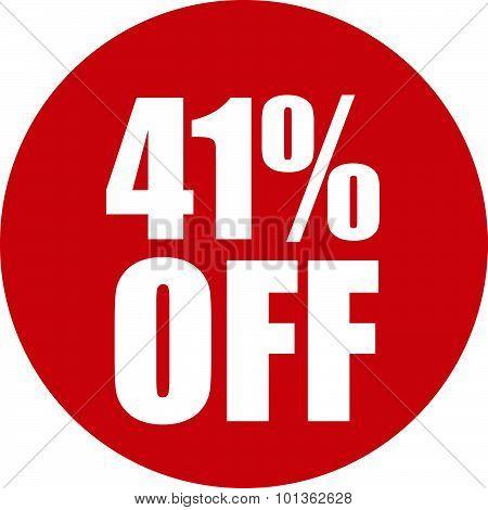 41 Percent Off Icon