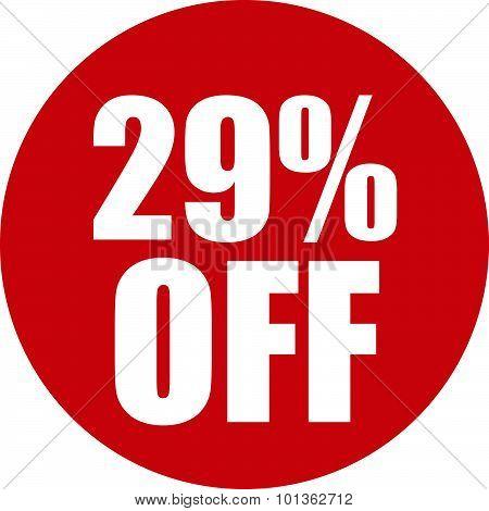 29 Percent Off Icon