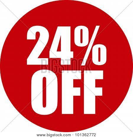 24 Percent Off Icon