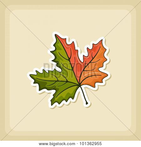 Autumn Leaves Icon, Harvest Thanksgiving Vector
